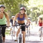 women cycling fitness supplement