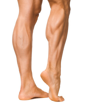 image of well developed calf muscles
