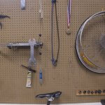 picture of bike repair bench