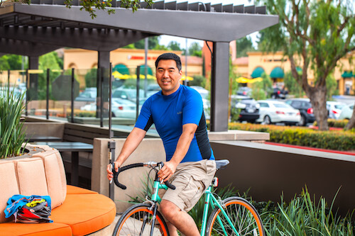dave sitting on his bike