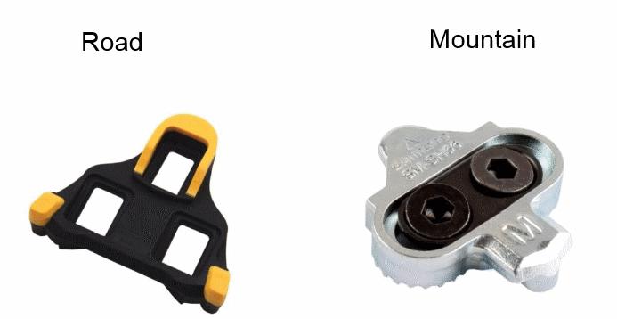 road cleats vs mountain bike cleats