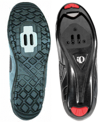 road shoes vs mountain bike shoes