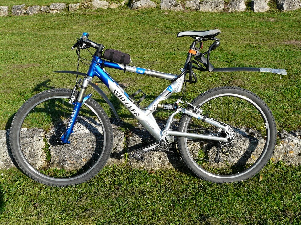 bike on the grass