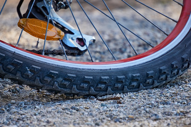 close up look of a bike tire