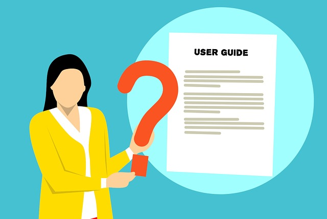 illustration of woman discussing user guide