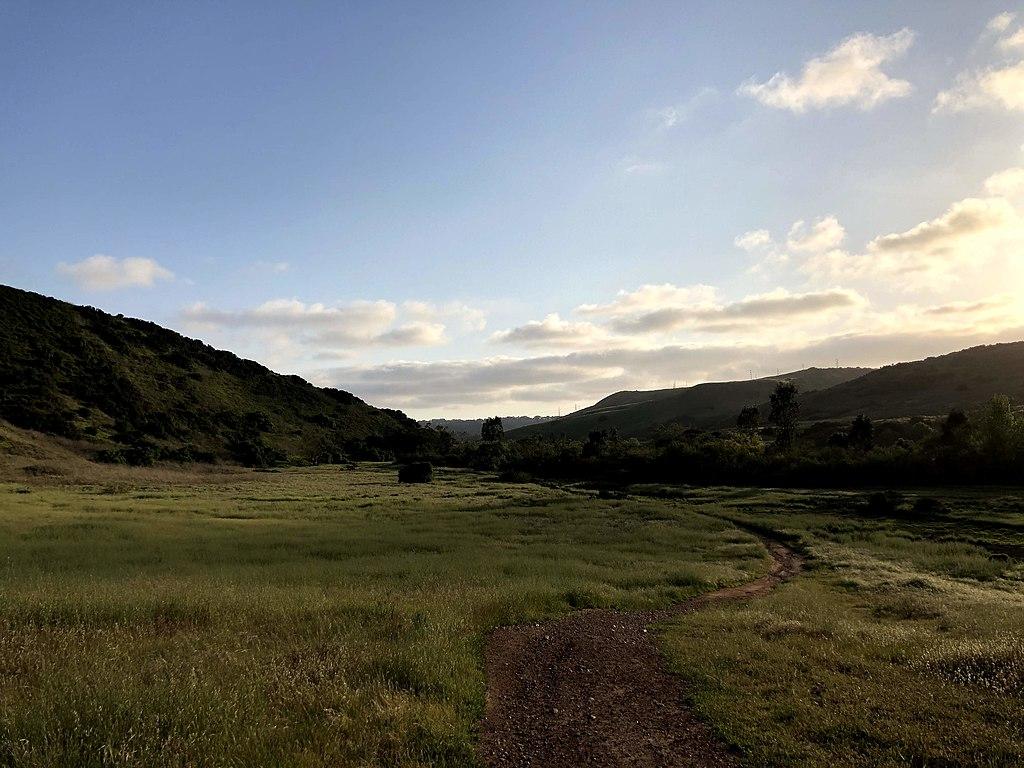 A hiking trail in Carmel Valley, California