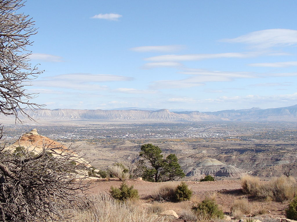 Grand Valley, Colorado, which is one of the great destinatins to bike in America