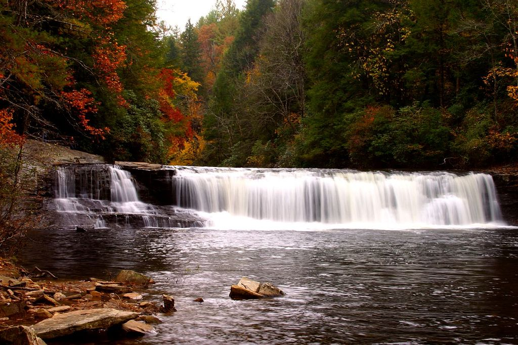 Hooker Falls at Dupont State Forest, which is near Brevard, North Carolina