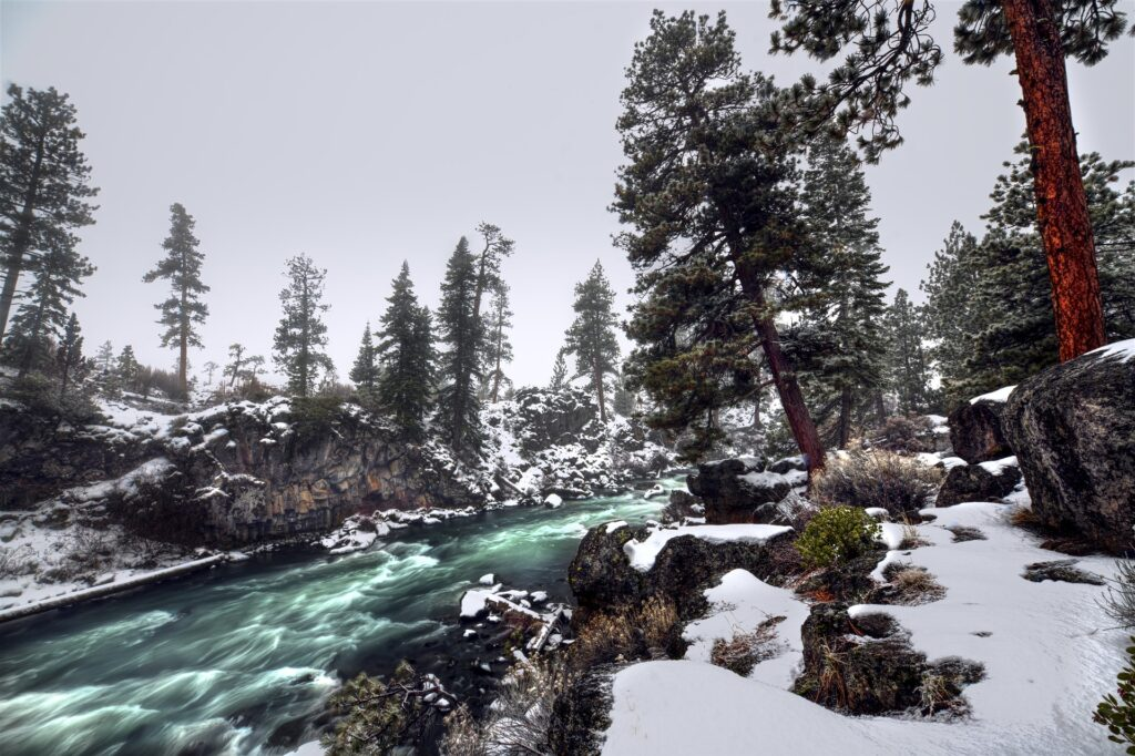 The Bend River in Bend, Oregon, another of our great destinations to bike