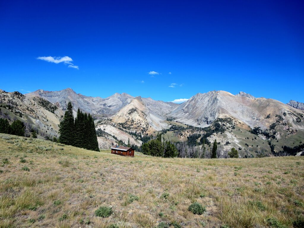 A lone cabin in the mountains of Sun Valley, Idaho